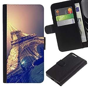 KingStore / Leather Etui en cuir / Apple Iphone 6 PLUS 5.5 / Sky Nuit Paris France