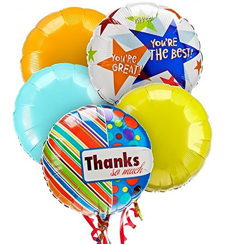 Amazon.com : 5 Thank You Mylar Balloon Bouquet by Century City ...