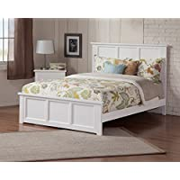 Madison Bed with Matching Foot Board, Queen, White