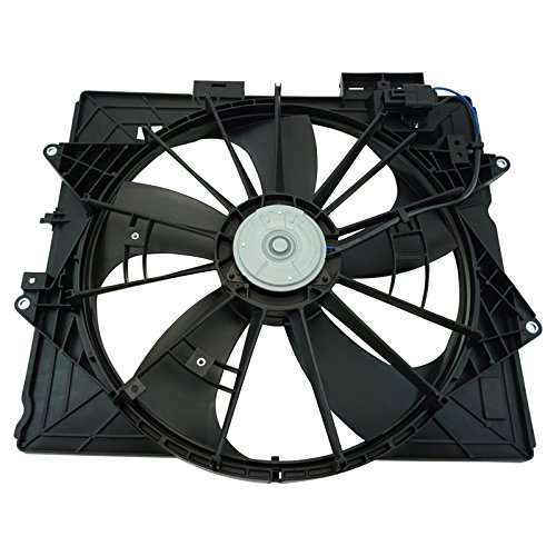 Cadillac Radiator Fan - Engine Radiator Cooling Fan Assembly for Cadillac CTS SRX STS Brand