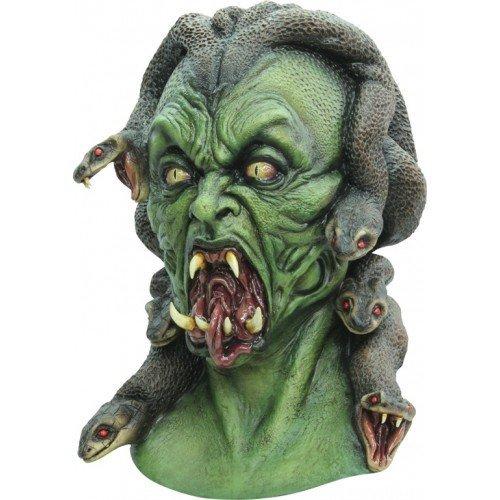(Ghoulish Medusa Snake Hair Woman Head & Neck Mask - Horror)