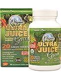 Cheap Natures Plus Ultra Juice Green – 90 Vegetarian Tablets, Bilayer – Multinutrient Supplement, 20 Whole Green Foods & Global Algae – USDA Certified Organic, Gluten Free – 30 Servings