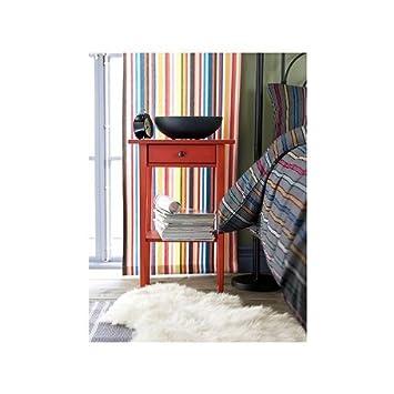 Ikea Hemnes Moderne Table De Chevet En Rouge Amazon Fr Cuisine