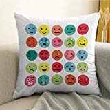Emoji Bedding At Target FreeKite Emoji Printed Custom Pillowcase Watercolor Abstract Facial Expressions Winking Crying Loving Surprised Collection Decorative Sofa Hug Pillowcase W16 x L24 Inch Multicolor