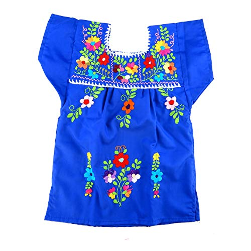 (Mexican Infant Dress Blue Tehuacan Dress Day of The Dead Coco Theme Party Halloween)