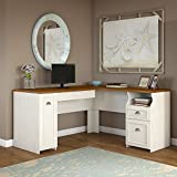 Fairview L Shaped Desk in Antique White