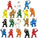 little ninja figures - 50 Mini Karate Ninjas Warriors Fighters Figures Cupcake Cake Toppers Ninja Kung Fu Guys Martial Arts Men Lot Party Favors