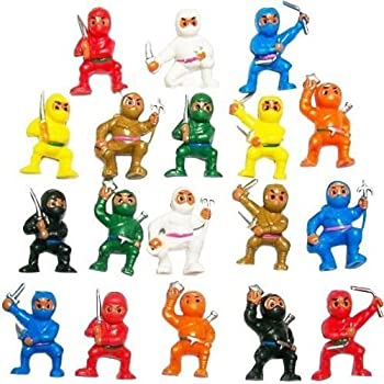 Amazon Com 12 Pc Toy Ninja Warriors Toys Amp Games