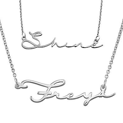 MyNameNecklace Personalized Signature Name Necklace - Custom Jewelry