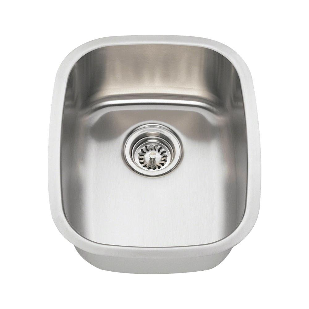 MR Direct 1815 18-Gauge Undermount Single Bowl Stainless Steel Bar Sink by MR Direct  B009O8AU8Q