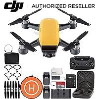 DJI Spark Portable Mini Drone Quadcopter Fly More Combo Landing Pad Bundle (Sunrise Yellow)