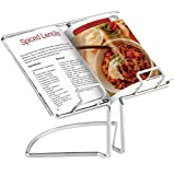 VonShef 07/277 Wire Cookbook Stand Menu Rack Rest Cooking Book Holder, Silver