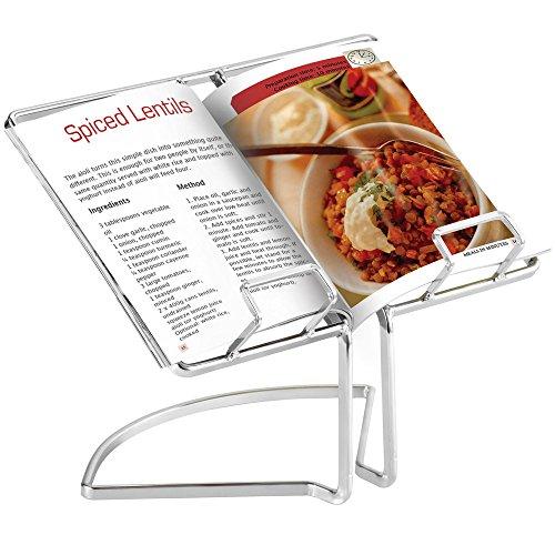 VonShef 07/277 Wire Cookbook Stand Menu Rack Rest Cooking Book Holder, Silver by VonShef