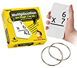 Star Right Education Multiplication Flash Cards, 0-12 (All Facts, 169 Cards) With 2 Rings