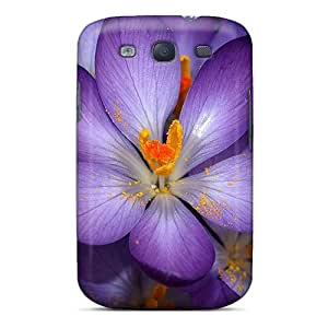 Bumper Hard Cell-phone Case For Samsung Galaxy S3 With Custom Trendy Purple Flowers Pictures TimeaJoyce