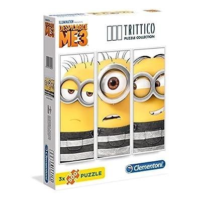 Clementoni 39802 Trittico Puzzle Despicable Me 3 X 500 Pezzi