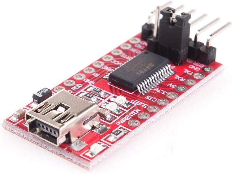 ANGEEK FTDI FT232RL FT232 USB to TTL Serial Converter Adapter Module 5V and 3.3V for arduino DIY KIT