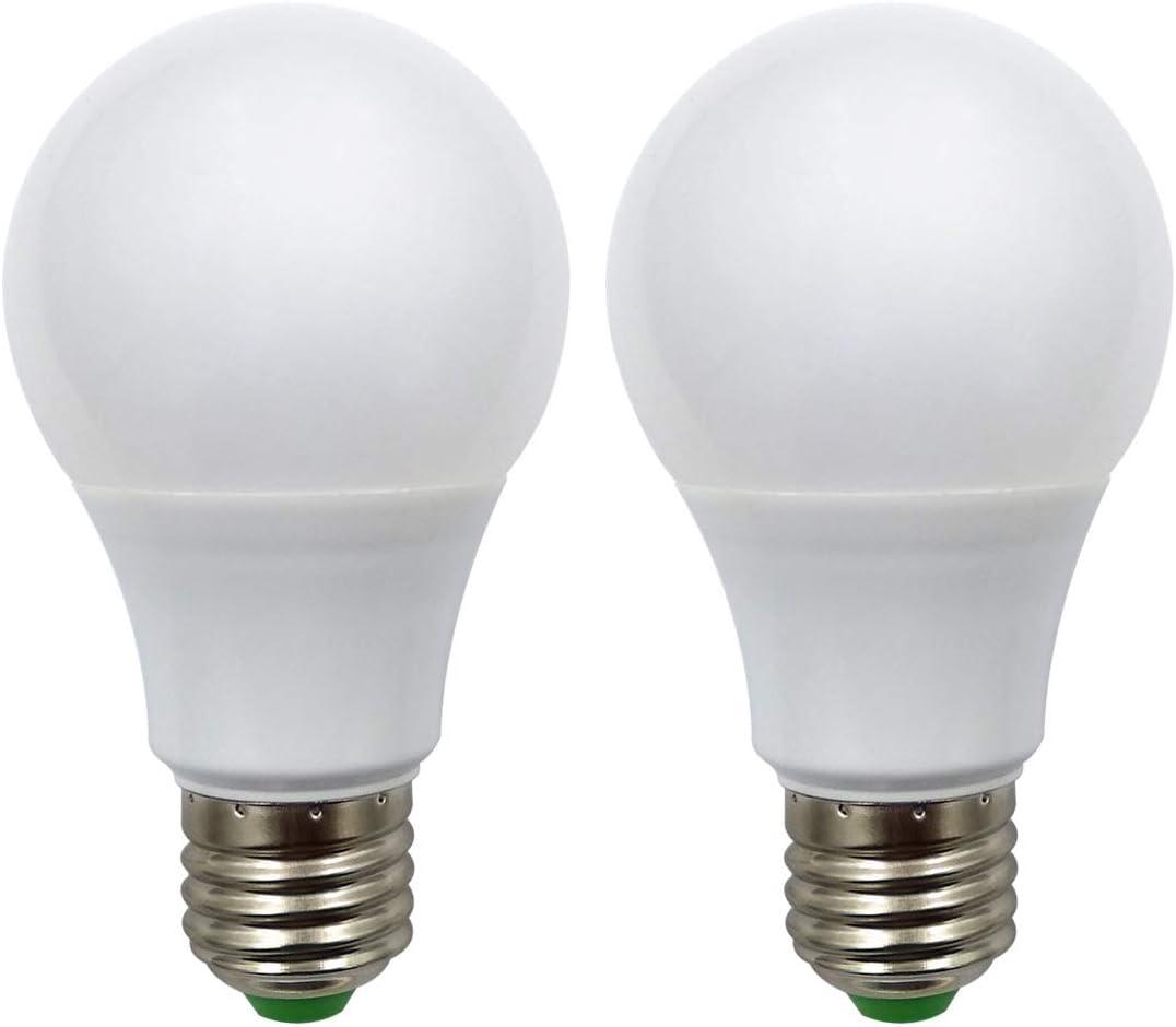 E27 Bombillas LED 12V Baja Tensión 7 Vatios Tornillo Estándar Lámpara De Base 70w Bombilla De Cc/Ca Equivalente Para Iluminación Del Sistema Solar Fuera De La Red, Rv, Barco(Paquete De 2)