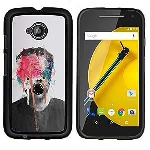 "Be-Star Único Patrón Plástico Duro Fundas Cover Cubre Hard Case Cover Para Motorola Moto E2 / E(2nd gen)( Pintura abstracta del arte del monstruo Foto Hombre"" )"
