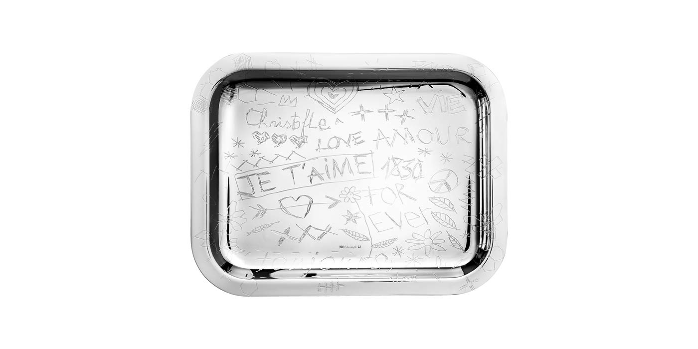 Christofle Graffiti Silver Plated Rectangular Tray #4200445 by Christofle (Image #2)