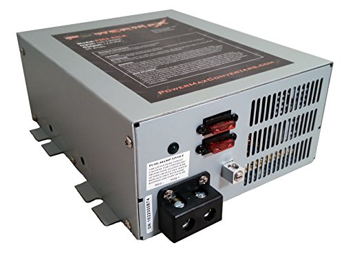 PowerMax PM4 45A 110V AC to 12V DC 45 Amp Power Converter with Built-in 4 Stage Smart Battery - Charger Transformer