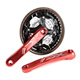XCSOURCE Mountain Bike Crankset AL Bicycle Crank Sprocket Chainwheel Set 24T/34T/42T 7/8/9 Speed Red CS500