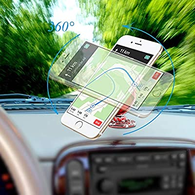 Magnetic Cell Phone Holder for Car 360 Degree Free Rotation Car Phone Mount from ColorCoral