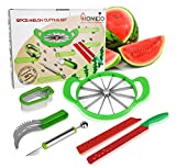 5 in 1 Melon cutting set- Watermelon Slicer, Melon Baller, Apple Corer, Speciality Fruit Knife, Ice Cream Shaped Cutter-Kitchen Utensils and Accessories