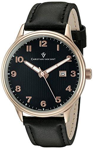 Christian Van Sant Men's 'Montero' Quartz Stainless Steel Casual Watch (Model: CV9812) - Montero Leather