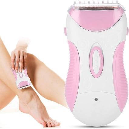 Depiladora eléctrica, afeitar el cabello, las piernas, el pelo, carga la afeitadora, ligera y práctica, el mejor regalo para las mujeres: Amazon.es: Belleza