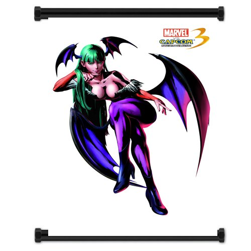 Marvel Vs Capcom 3 Morrigan Game Fabric Wall Scroll Poster