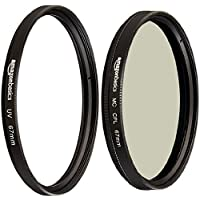 AmazonBasics UV Protection Lens Filter and Circular Polarizer Lens Set - 67 mm