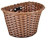KENT Plastic Bicycle Basket, Brown, 11 x 7 x 8-Inch