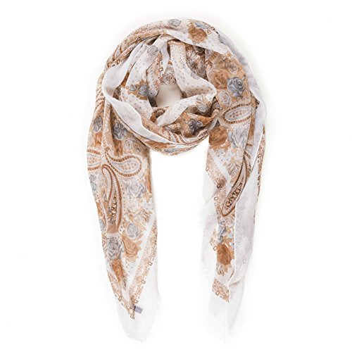 Chintz Gold (Scarf for Women Lightweight Paisley Fashion Fall Winter Scarves Shawl Wraps (NF13-1))