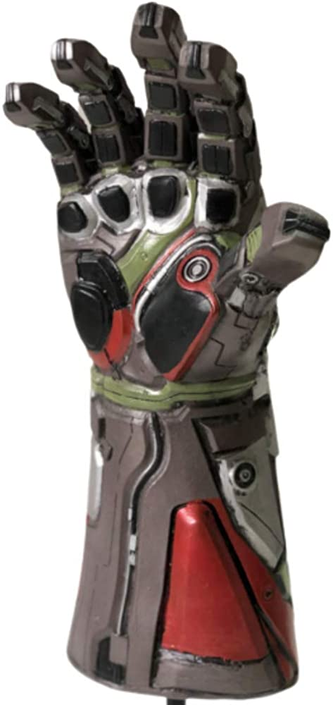 Endgame Iron Man Infinity Gauntlet Latex Replica LED Light Up Toy Cosplay Costume w//Necklace
