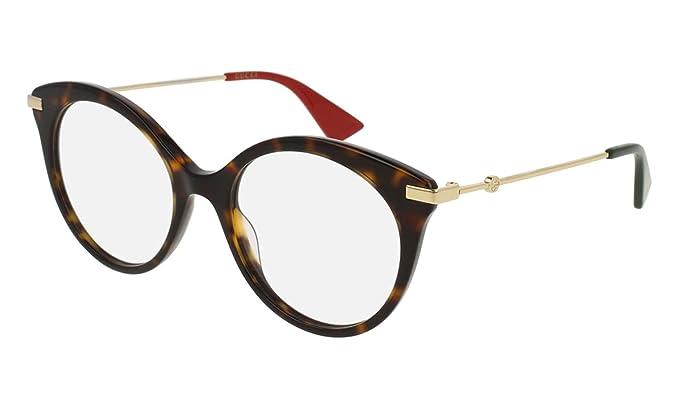 scarpe da corsa ultima selezione del 2019 negozio online Gucci Occhiali da Vista GG0109O HAVANA GOLD donna