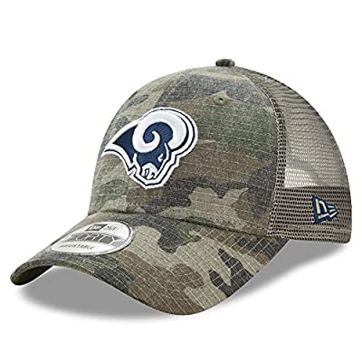 Los Angeles Rams Camo Trucker Duel New Era 9FORTY Adjustable Snapback Hat / Cap from New Era