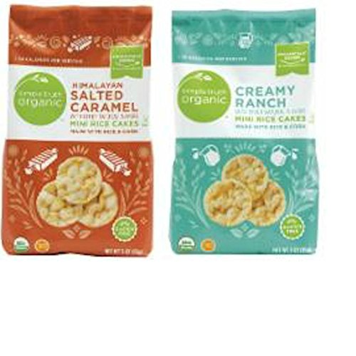Simple Truth Organic Himalayan Salted Caramel and Creamy Ranch Mini Rice Cakes Combo Pack by Simple Truth