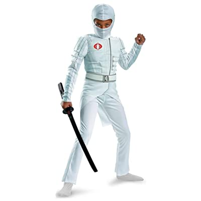 Disguise Boys GI Joe Movie Storm Shadow Light Up Deluxe Muscle Costume, Small/4-6: Toys & Games
