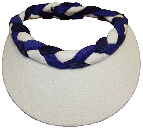 - Cushees Braided Terry Cloth Visor [230] (Navy-Purple)