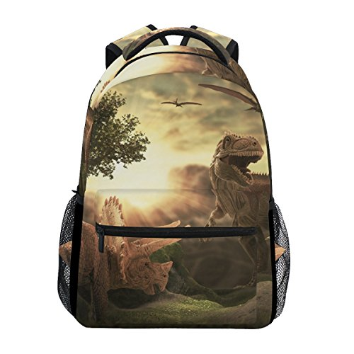 - JSTEL Giant Dinosaur 3D School Backpacks For Girls Kids Elementary School Shoulder Bag Bookbag