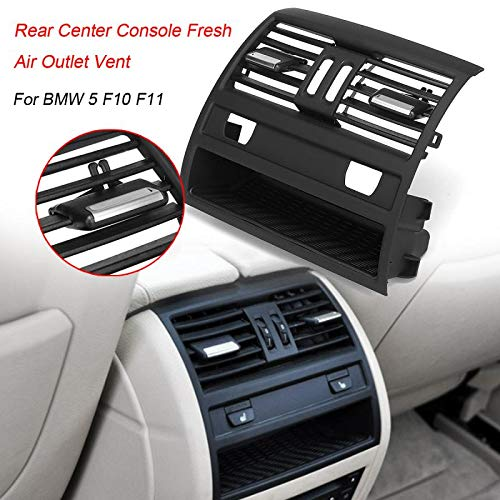 Value.Trade.Inc - Rear Center Console Car Flow In Fresh Air Outlet Vent Grille Grill Cover Fits Air Conditioner Vent Protective For BMW 5 F10 F11