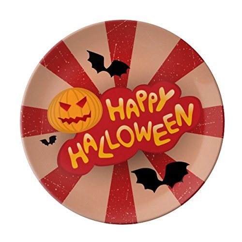 Cartoon Halloween Fonts Dessert Plate Decorative Porcelain 8 inch Dinner -