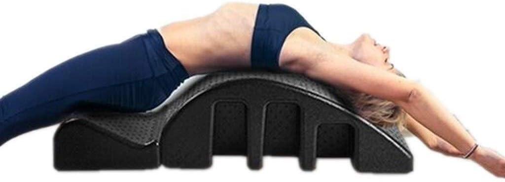 YF-SURINA Equipo deportivo Cama de masaje Pula Mesa de masaje curvada Órtesis de columna Soporte de yoga Corrector de columna Adecuado para trabajadores de oficina, dolor cervical, dolor de espalda P