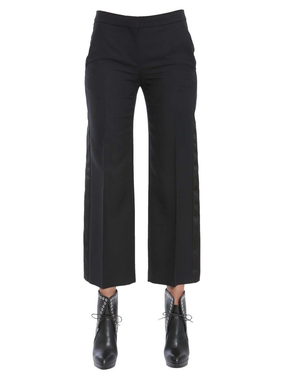 Brand Size 42 ALEXANDER MCQUEEN Women's 475754QJJ091000 Black Wool Pants