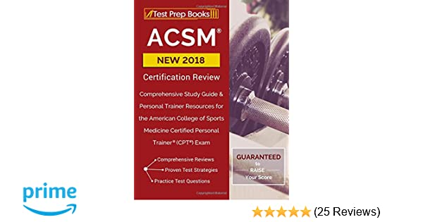 acsm new 2018 certification review comprehensive study guide rh amazon com CPT Codes MRI CPT Codes List