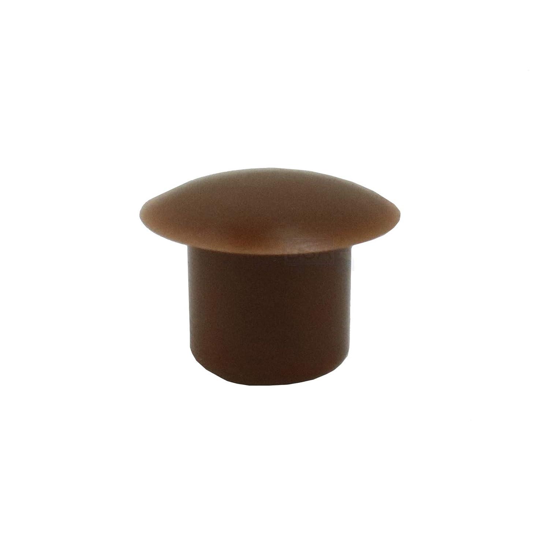 20/Bouchons Cache-trou 8/mm IROX Marron plastique t/ête 13/mm bouchon cache trou