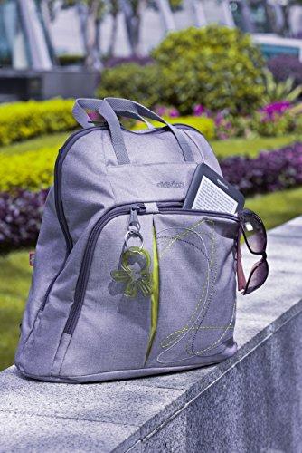 okiedog TREK 37013 bolsa de pañales Mochila incl. accesorios URBAN, jeans Plateado