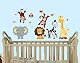 Mini Pride Expedition Animal Wall Decals