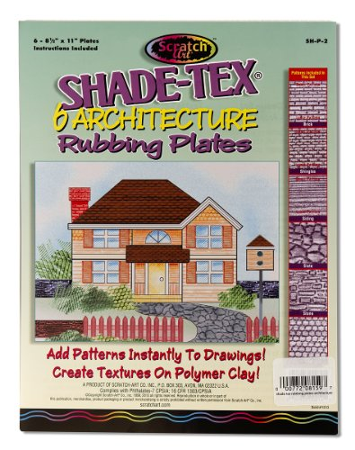 Melissa & Doug Scratch Art Shade-Tex Rubbing Plates - Architecture Drawing (Crayon Rubbings)